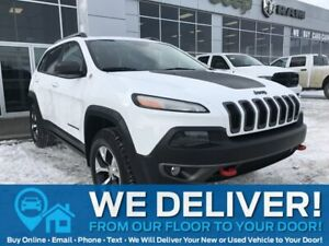 2015 Jeep Cherokee Trailhawk   4X4   Sunroof   Remote Start   Leather