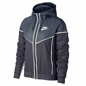 Nike Sportswear Windrunner Women s Jacket Plus Size 1X Blue Gray ... 32f3227d79