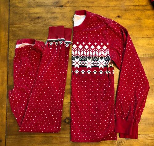Hanna Andersson Adult Pajama Top Bottom Set Small