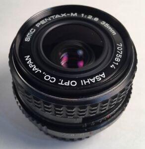SMC-PENTAX-Pentax-M-35mm-f-2-8-wide-angle-lens-Camera