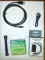 Accessory Kit Wide Lens + Charger + Mini Hdmi + Tripod For Canon Hf R20 Hf R21