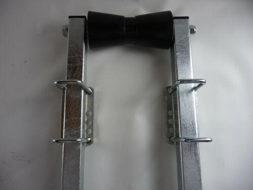 Kielrolle mit Halter Bootsauflage Rolle Schwarz 195mm aus Polyvinyl m.500mm Rohr