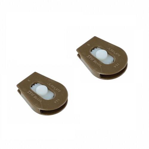 2 x ITW NEXUS 194 CORDLOCK CORD LOCK FASTEX PLASTIC GHILLIETEX COYOTE or BLACK