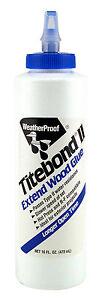 (25,35 EUR/Liter) Titebond II Extend WeatherProof Holzleim 473ml, Wood Glue