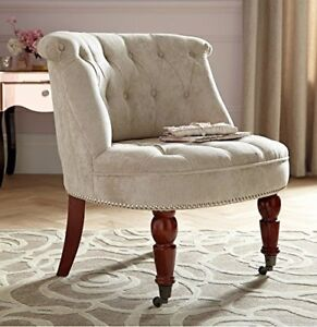 Grantham-Chenille-Button-Back-Occasional-Accent-Bedroom-Lounge-Chair-Tub