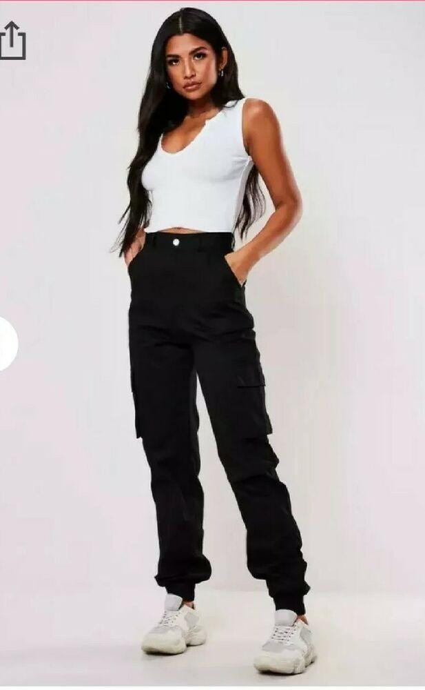 Industrieux Miss Guided Plain Cargo Pantalon 8 Conduire Un Commerce Rugissant