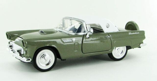 MOTORMAX 1/24 SCALE 1956 FORD THUNDERBIRD MODEL BN 73312AC-GR