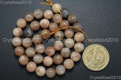Natural Sunstone Gemstone Round Loose Beads  6mm 8mm 10mm 12mm 14mm 16mm 15.5''