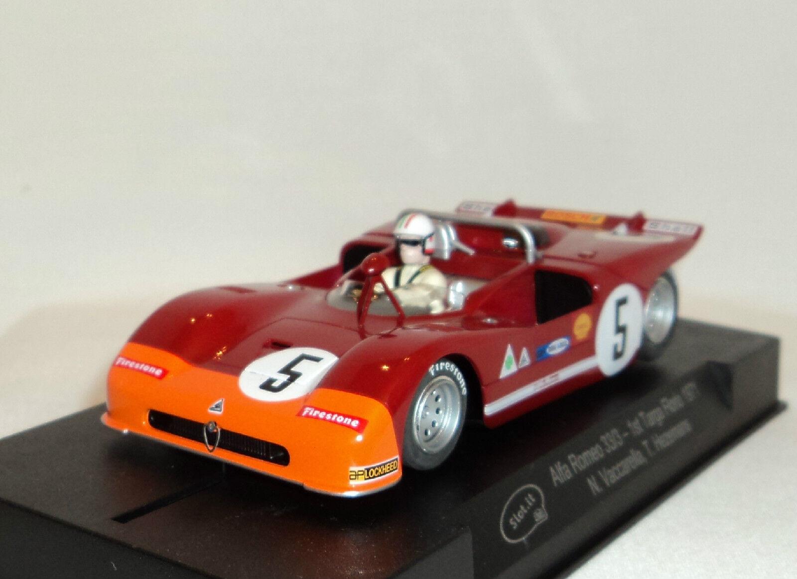 Slot IT SICA 11F Alfa Romeo 33 3  5 1ST Targo Florio 1971 1 32 ranura de coche