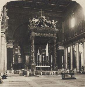 Roma Santa Maria Maggiore Italia Stereo Vintage Analogica Ca 1920