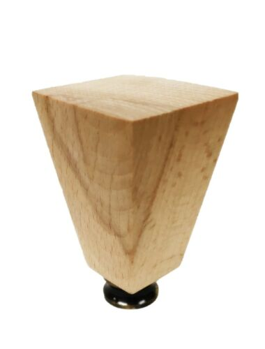 Lamp Finial-SOLID BEECH WOOD TAPERED RECTANGLE-W//Dual Thread Base//4 Finishes-FS