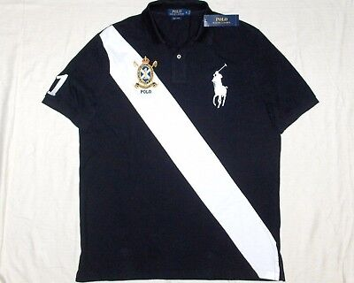 Navy NWT POLO RALPH LAUREN Men/'s Classic Fit BIG PONY Crest Banner Shirt White