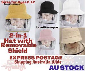 Age 2-12 Kids Anti Dust UV Protection Fisherman Wind Breaker Sun Hat Face Shield