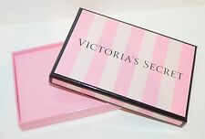 NEW VICTORIA'S SECRET CLASSIC PINK STRIPE EMPTY GIFT BOX CARD CASH HOLDER WRAP