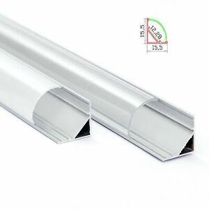 Aluprofil-Ecke-Aluminium-Eckprofil-Alu-Schiene-Abdeckung-Leiste-fuer-LED-Stripes