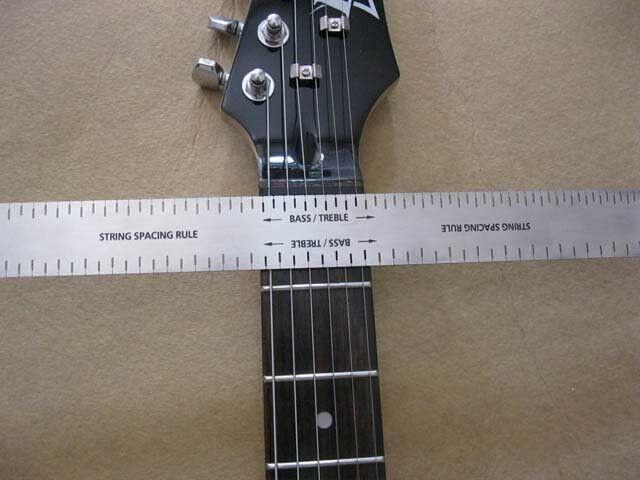 String spacing rule- nut making- luthier tool