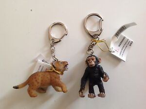 2 Papo Keychains 2214 Baby Chimpanzee And 02207 Tiger Cub Toys & Hobbies New Lot Educational