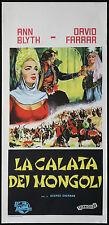 CINEMA-locandina LA CALATA DEI MONGOLI a.blyth,d.ferrar G.SHERMAN