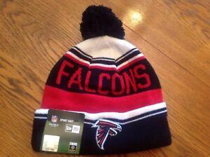 Atlanta Falcons Football Sport Knit Pom Pom Cap Beanie-BNWTS