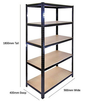 5 Tier Shelving Storage Garage Racks Heavy Duty Steel Warehouse Racking Shelves