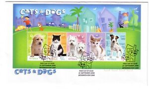 2004-FDC-Australia-Cats-amp-Dogs-M-S-034-Cat-amp-Dog-034-PictFDI-034-ARTARMON-034