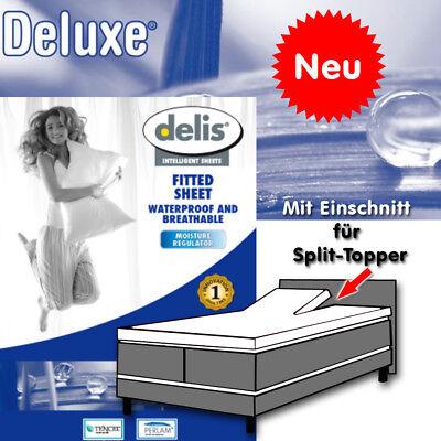 """milbendichtes Topper Schutzbezug Spanntuch für Split Delis /""""Pantalon/"""" wasser u"""
