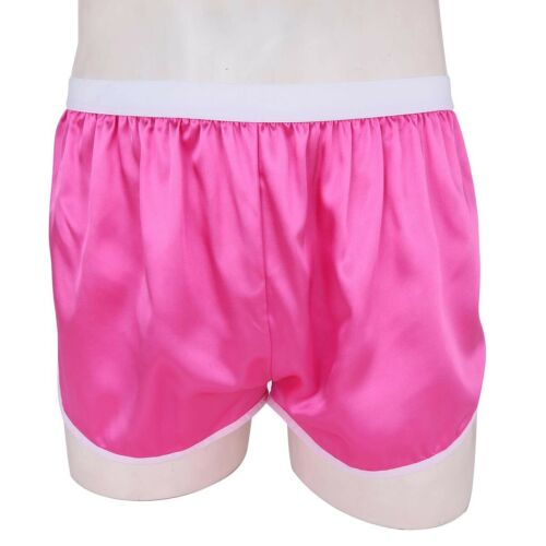 Men/'s Silky Satin Boxer Shorts Panties Lounge Sports Shorts Pants Swim Trunks