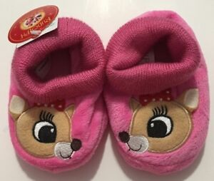 Non-Skid Bottom Rudolph Baby Girls or Boys Booties