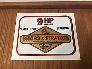 Briggs-Stratton-9-hp-decal-set-1964-1977