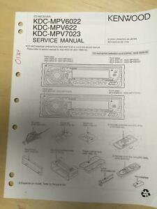 kenwood service manual for the kdc mpv6022 mpv622 mpv7023 cd car rh ebay co uk Kenwood 998 Kenwood Instruction Manual