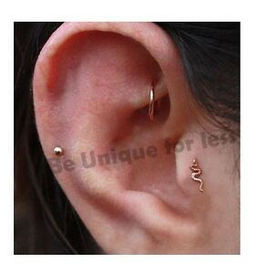 Image Is Loading Swivel Snake Styl Helix Labret Tragus Cartilage Piercing