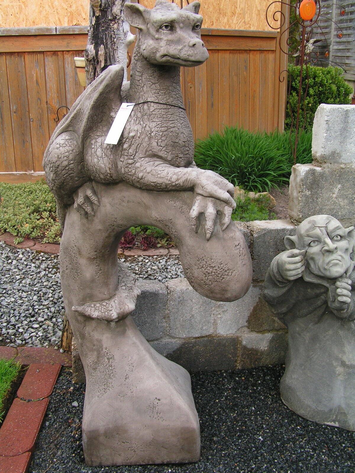 Gartendeko Figur Skulptur Drache Pheeberts by Fiona Scott Scott Scott Steinguss  Yolande  811667