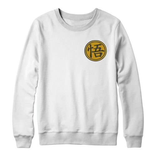 Dragon Ball Z Series Inspired Embroidered Jumper Top Goku/'s Symbol Jumper