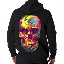 Painted Trippy Skull Art Dripping Hooded Sweatshirt Hoodie