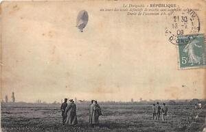 CPA-AVIATION-LE-DIRIGEABLE-REPUBLIQUE-AU-COURS-DES-ESSAIS-DEFINITIFS-DE-RECETTE