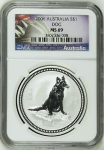 2006-NGC-MS69-Australia-1-Oz-Silver-Lunar-Year-of-the-Dog-1-Coin-Bullion