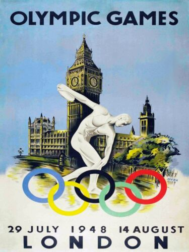 4652.Olympic games.london.july.august.1948.POSTER.Interior decor Home Office art