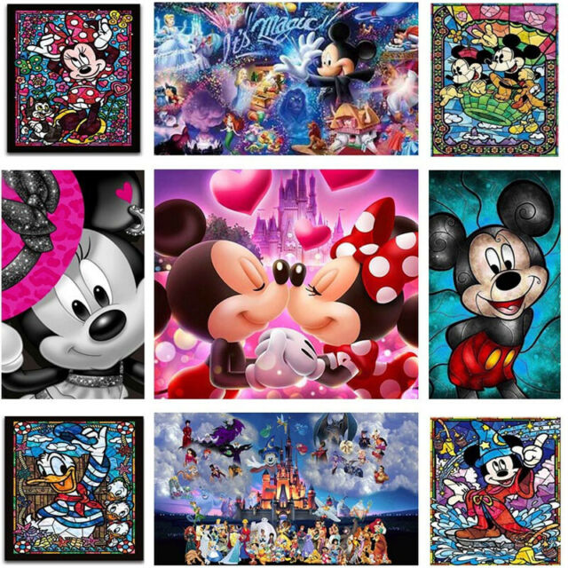 UK Friends Mickey 5D Full Drill Diamond Painting Embroidery Cross Stitch QW