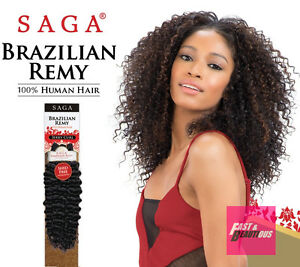Image Is Loading Saga Brazilian Remy Jerry Curl 100 Human Hair