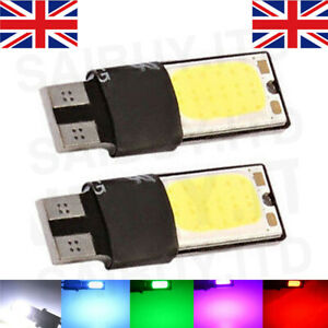 2-x-Sans-Erreur-Canbus-501-Smd-DEL-Sidelight-Blanc-Ampoules-Xenon-T10-W5W-194-CREE