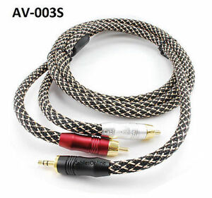 3ft-Premium-Stereo-24K-Gold-3-5mm-Plug-to-RCA-Male-Braided-Sleeve-Audio-Cable
