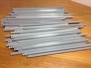 "50 KNEX LIGHT GRAY RODS 7 1//2/"" Pieces 7.5/"" Bulk Standard Replacement Parts Lot"