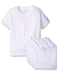 New Fruit of the Loom Toddler Boy/'s Crew Neck Tee Shirts 5 Pack