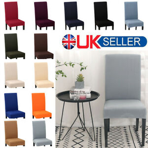 6-10PCS-Soft-Dining-Chair-Covers-Spandex-Slip-Cover-Stretch-Wedding-Banquet-UK