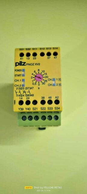 1x PILZ 774500 PNOZ XV2 SAFETY RELAY 24VDC