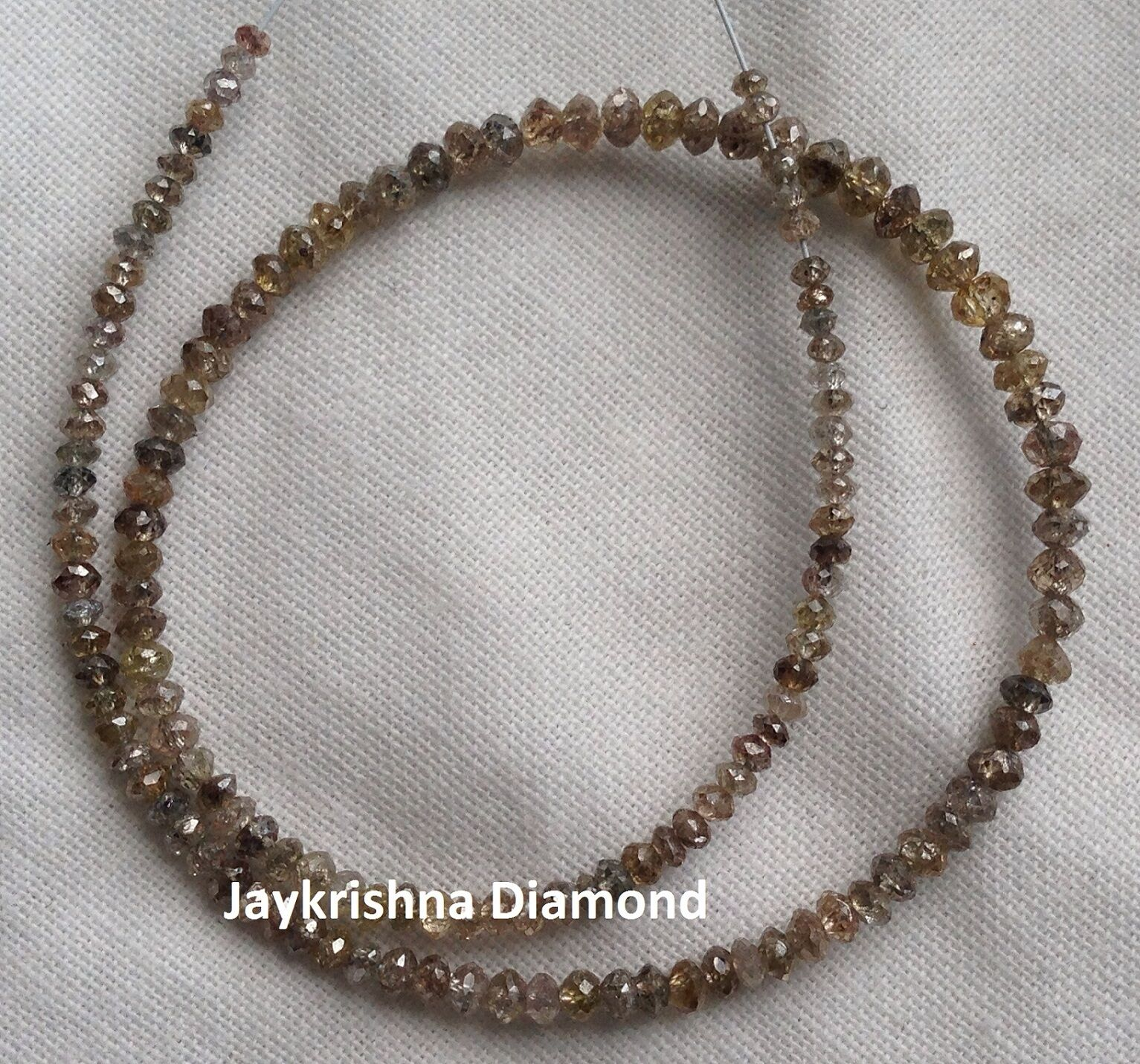 7.03 ct  Natural Brown color Polished Faceted Loose Diamond Beads 7  half strand