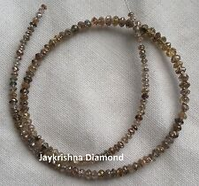 """7.03 ct  Natural Brown Color Polished Faceted Loose Diamond Beads 7"""" half strand"""