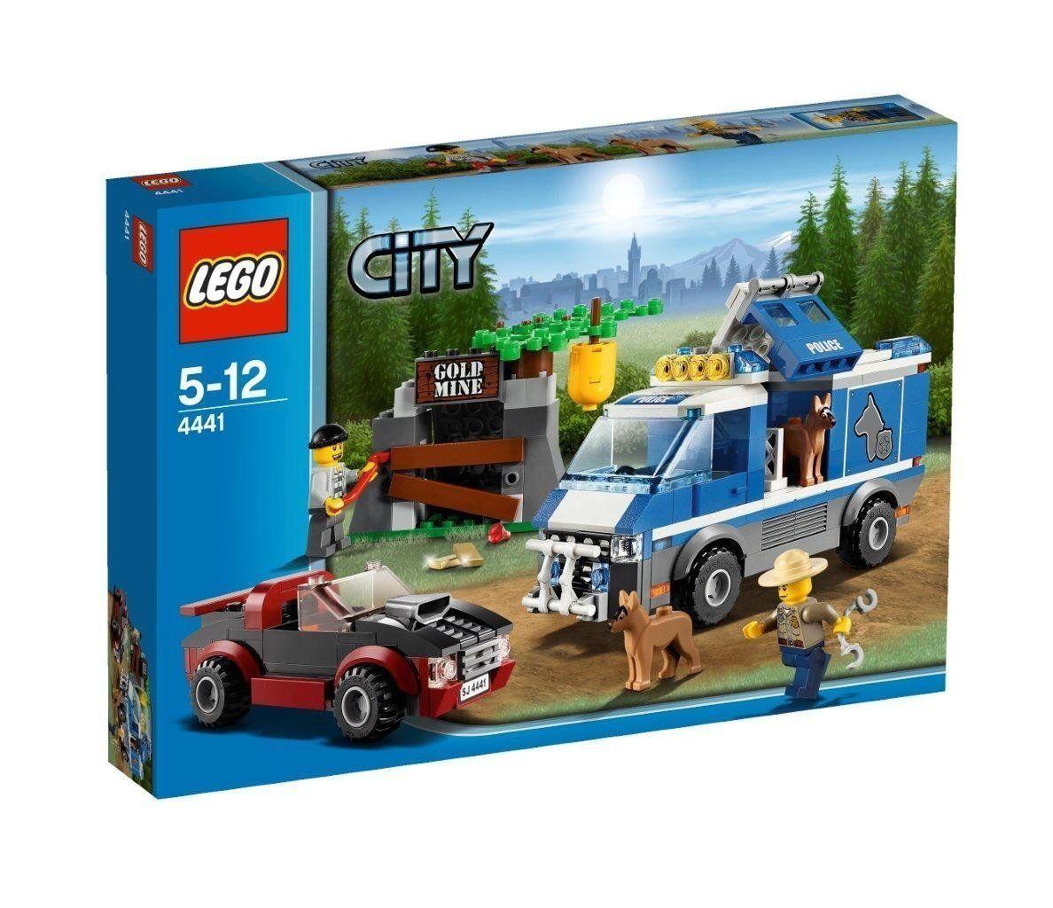 Lego City 4441 Mountain POLICE DOG VAN Gold Mine Sports Car Roadster Robber NISB