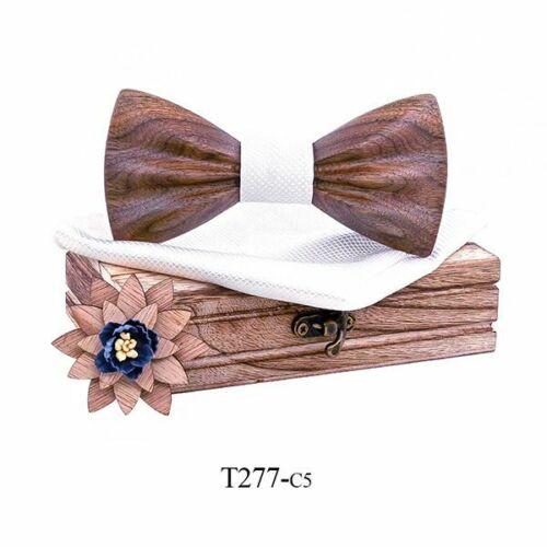 Neueste Holz Fliege Elegant Look Design Blumenmuster Anzug Für Herren Formell