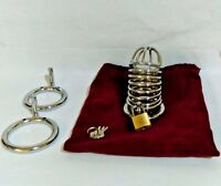 Stainless Steel Chastity Devices (1.5+1.75+2 3 Size Rings)